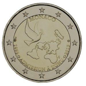 2 euro herdenkingsmunt monaco VN