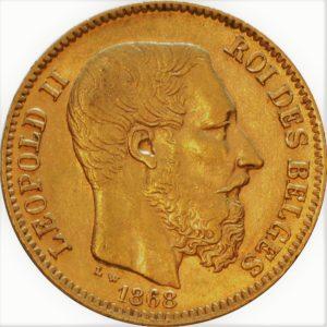 Gounden munt van 20 frank leopold 2