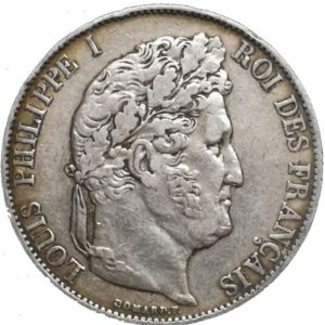 5 Frank Louis Philippe koning der Fransen
