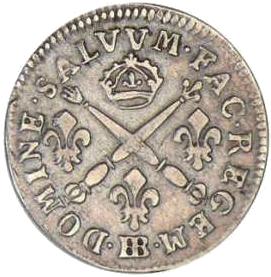 Louis XIV argent vielle pièce francaise