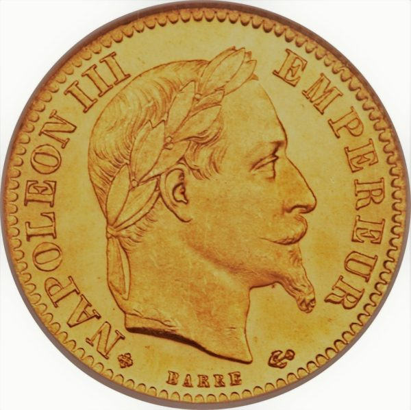 10 frank napoleon 3 half louis d'or