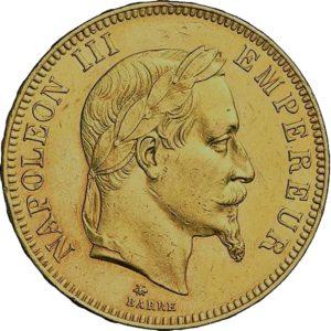 100 Frank goud Napoleon 3 viervoudige louis d'or