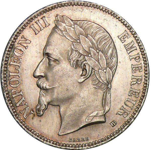 5 frank in zilver napoleon 3