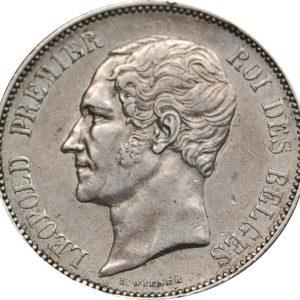 5 Frank in sterling zilver van Leopold I