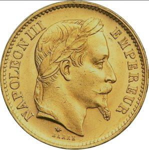20 Francs or Napoléon III louis d'or