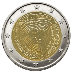 2 euro herdenkingsmunt Litouwen Sutartine