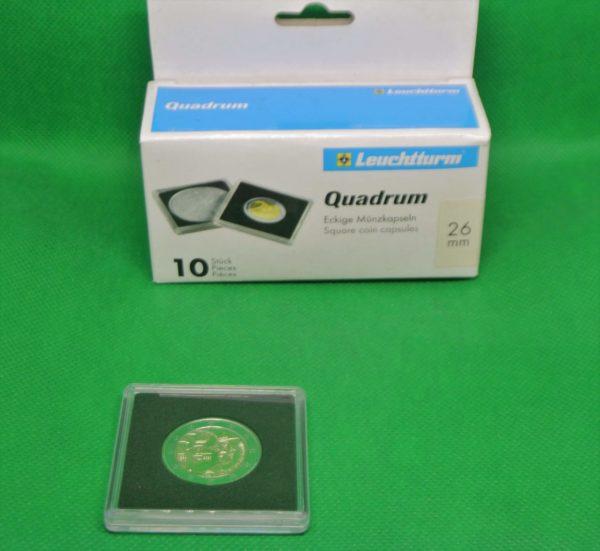 10 vierkante capsules voor 2 euromunten