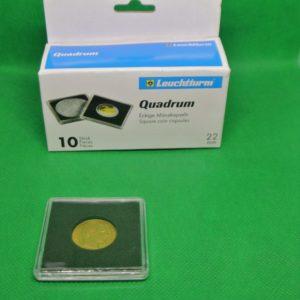10 vierkante capsules voor 20 Franken goudenmunten