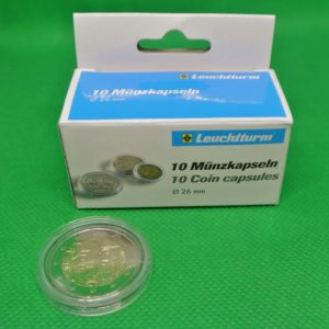 10 ronde capsules voor 2 euromunten