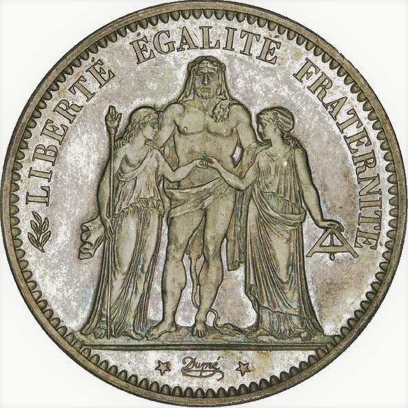 5 Frank in zilver hercules