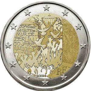 2 euro Berlijnse Muur - Ter herdenking van de 30 verjaardag van de val - Frankrijk