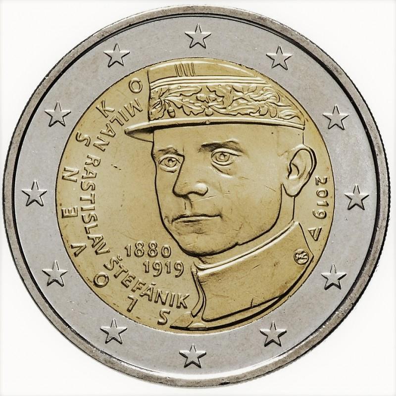 2 euro herdenkingsmunt Milan Rastislav Stefanik Slowakije