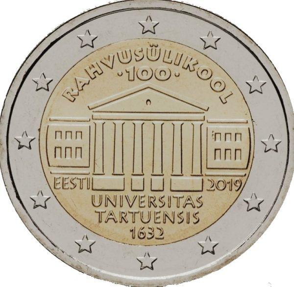 2 euro herdenkingsmunt universiteit van Tartu Estland