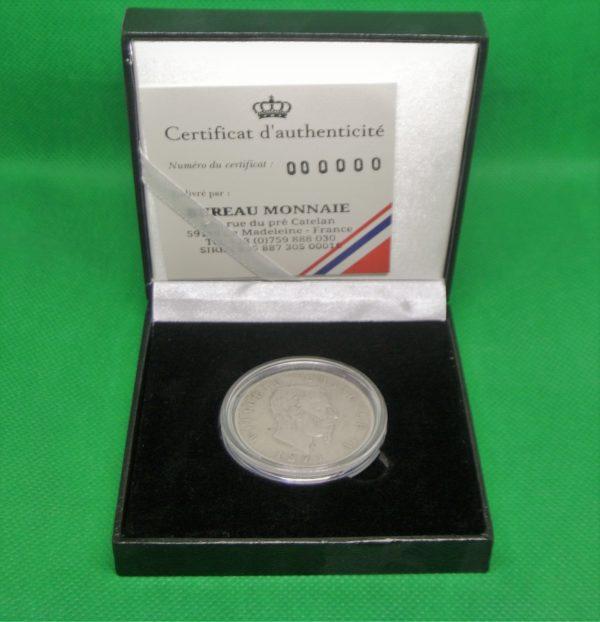5 Lires Victor-Emmanuel II de Savoie roi d'Italie boite numismatique