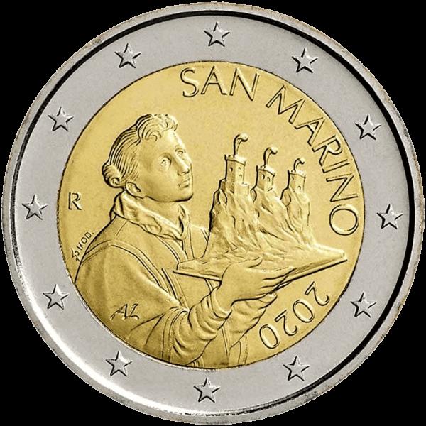 2 euro San Marino 2020 - De drie torens van San Marino