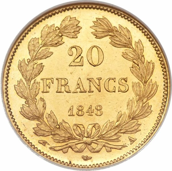Louis philippe 20 frank koning der fransen
