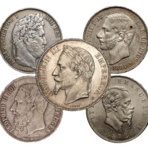 De zilverenmunten van de Latijnse Unie