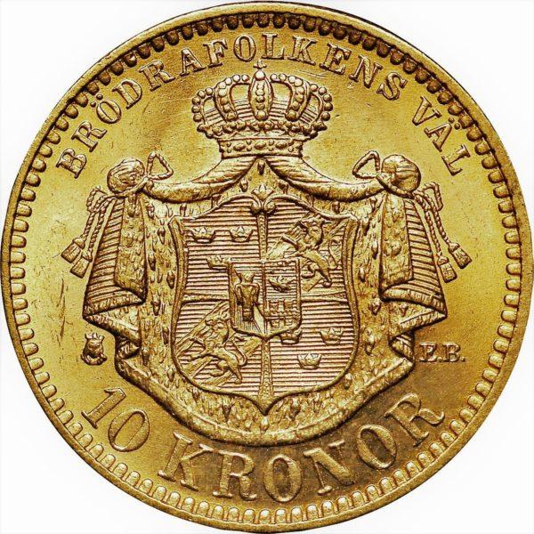 10 zweedse kronen Oscar II